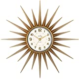 Acctim 21760 Stella Sprayed Starburst Wall Clock, Gold