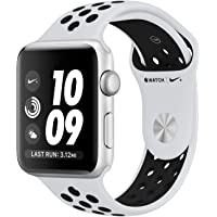 Apple Watch Nike+ Series 3-38mm Silver Aluminum Case with Pure Platinum/Black Nike Sport Band, GPS, watchOS 4, MQKX2