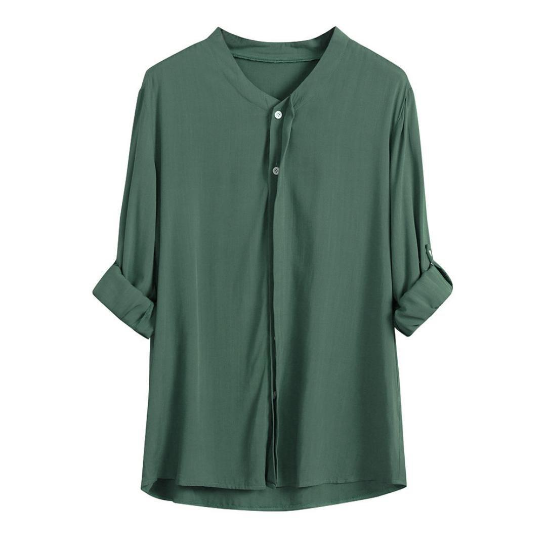 ❤ Blusa Suelta de Mujer,Camisa de Manga Larga con Cuello en V Fit Fit Down Cardigan Absolute: Amazon.es: Ropa y accesorios