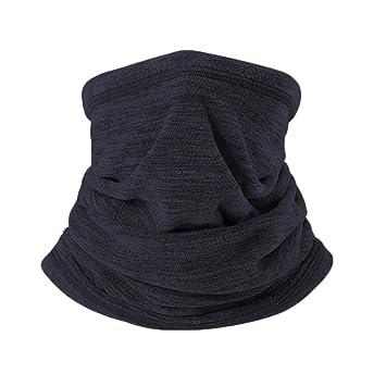 Jiele Mens Neck Warmer Scarf Multifunctional Polar Fleece Neck Warmer Snood  Scarf Hat Winter Outdoors Work 7ffce1f0488c