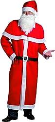 Idena 8580108 - Weihnachtsmann Kostüm, 5-teilig, rot