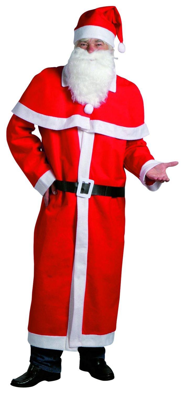 Weihnachtsmann Kostüm, 5-teilig, rot