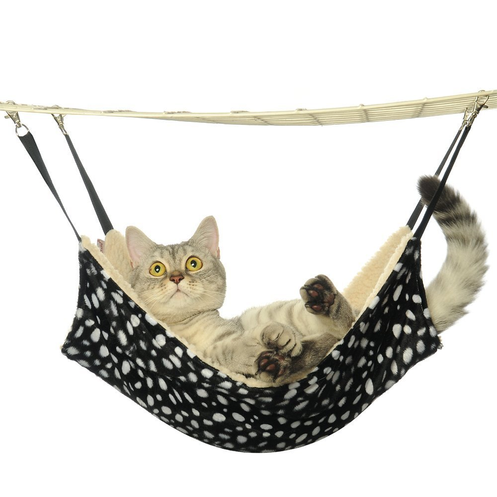 Kiwitatá Cat Hammock Bed Puppy Kitty Hanging Soft Sleepy Pad Bed Use with Cage for Small Pet Animal-Rabbit, Small Dogs