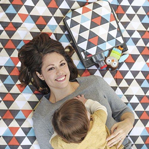 Skip Hop Baby Infant & Toddler Central Park Waterproof Convertible Outdoor Blanket & Detachable Cooler Bag, Multi Triangles by Skip Hop (Image #8)