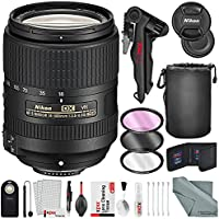 Nikon AF-S DX NIKKOR 18-300mm f/3.5-6.3G ED VR Wide-Angle to Telephoto Lens and Deluxe Bundle with Xpix Professional Tripod and Cleaning Kit