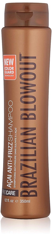 BRAZILIAN BLOWOUT Acai Anti Frizz Shampoo, 12 Fl oz
