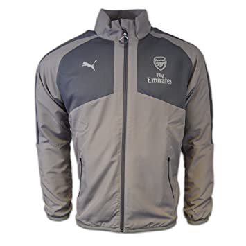 6d8255ff6f27 2016-2017 Arsenal Puma Casual Performance Woven Jacket (Grey) - Kids ...