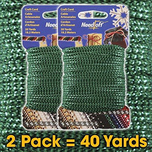 UPC 723347950042, #04 Metallic Green - Needloft Craft Cord 2 Pack 40 Yards (2x20yds)