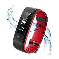 Vigorun Fitness Tracker IP68 Impermeable Pulsera Actividad Inteligente Rastreador de Actividad de Pantalla en Color Monitor de Pulso cardiaco/Podómetro/Monitor de sueño,para Hombre y Mujer