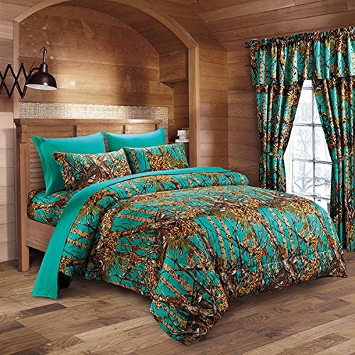Woodland-Hunter-Camo-Comforter-Sheet-Pillowcase-Set