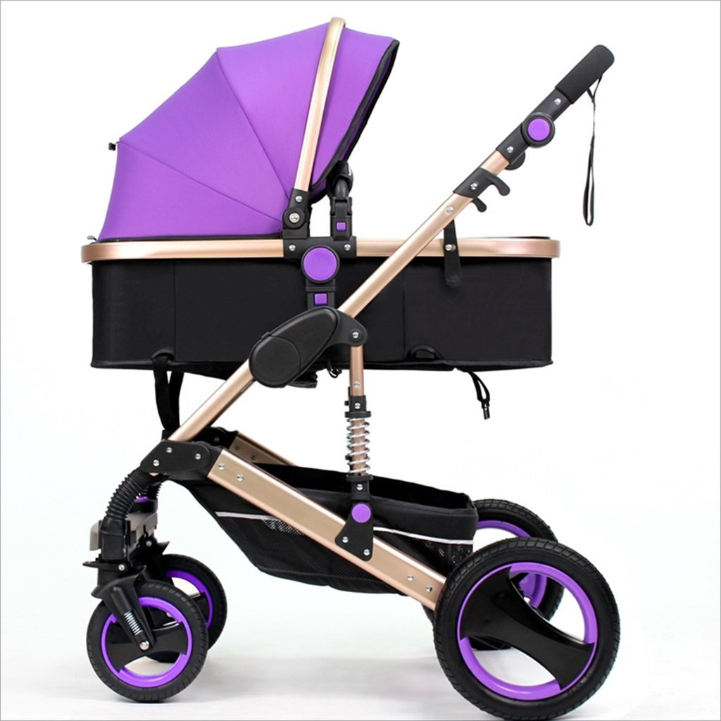 新生児の赤ちゃんキャリッジ折りたたみ可能な座って、1ヶ月のためのダンピングの赤ちゃんカートに落ちることができます 3歳の赤ちゃんの双方向四輪ベビートロリーを振るのを避ける (色 : F f) B07DVBB5HG F f F f