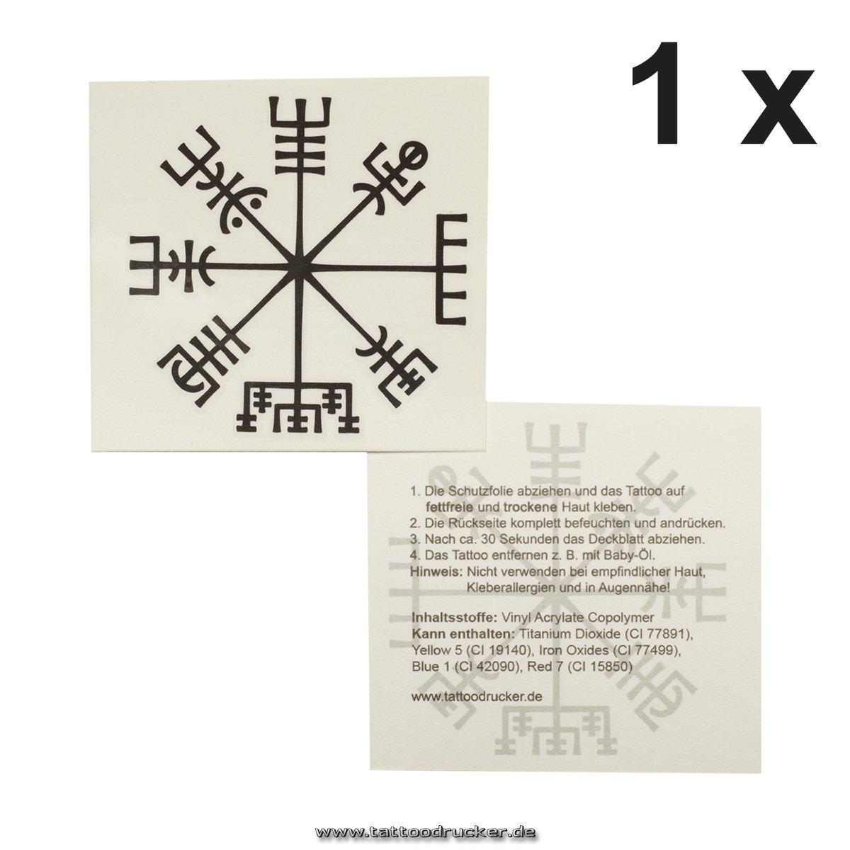 vikinger Brújula Tattoo – Vegvísir – Celta Brújula – Aphrodite ...