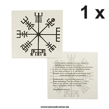 vikinger Brújula Tattoo - Vegvísir - Celta Brújula - Aphrodite Gold - Símbolo, 1 x Vikinger Kompass: Amazon.es: Hogar