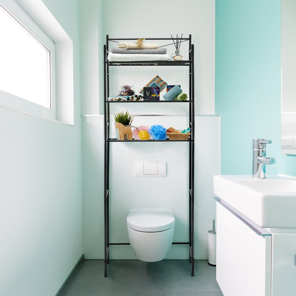 Amazon.com: EZOWare 3-Tier Metal Bathroom Shelf Space Saver, Over ...