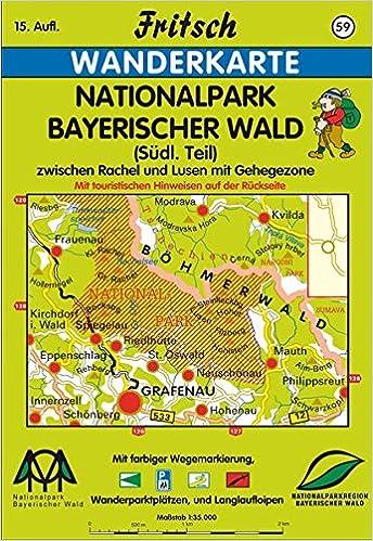Nationalpark Bayerischer Wald Karte.Fritsch Karten Nr 59 Nationalpark Bayerischer Wald Fritsch