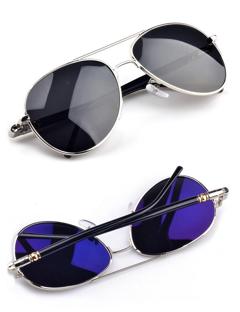 IALUKU Classic Aviator Polarized Sunglasses For Women Men Pilot Coating Lens