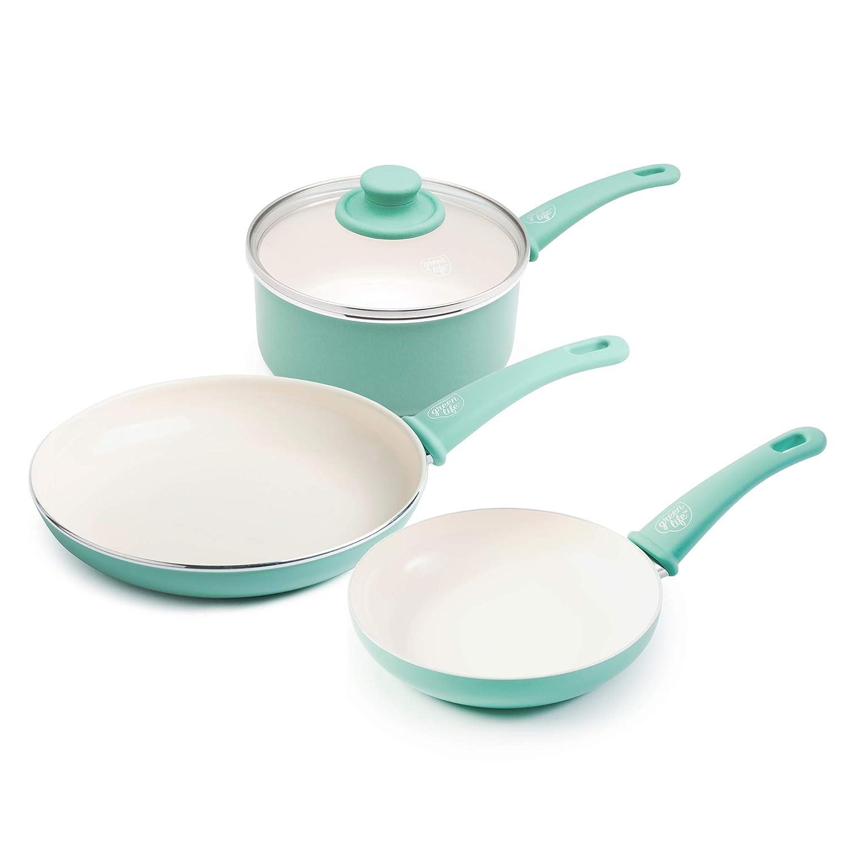 Amazon.com: OKSLO Ceramic nonstick 4 piece cookware set ...