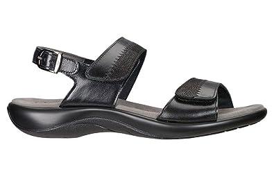SAS Women's, Nudu Low Heel Sandals Midnight ...