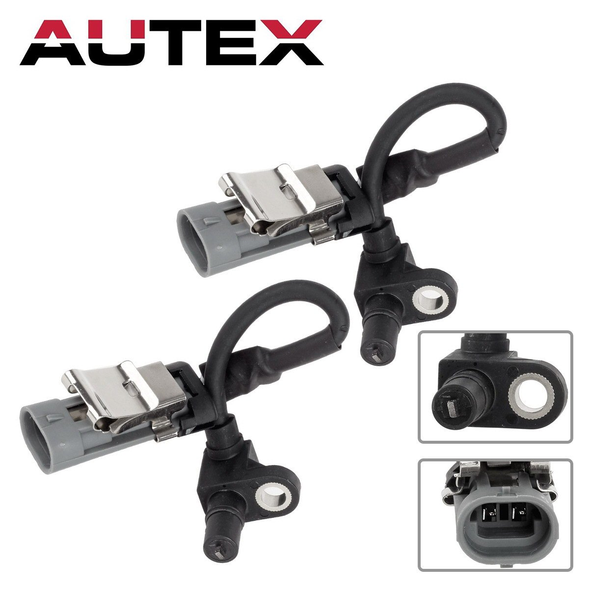 AUTEX 2pcs ABS Wheel Speed Sensor Front left & Right ALS1344 5S4881 compatible with Chevrolet Equinox 3.4L 2005 2006 Pontiac Torrent 3.4L 2006 Saturn Vue ...