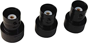 Anteenna TW-BNCJ-SMAP (3 Packs) Adaptor Connector BNC Female to SMA Male is Suit for Ham (144/430MHz) Handheld Antenna BNC Male