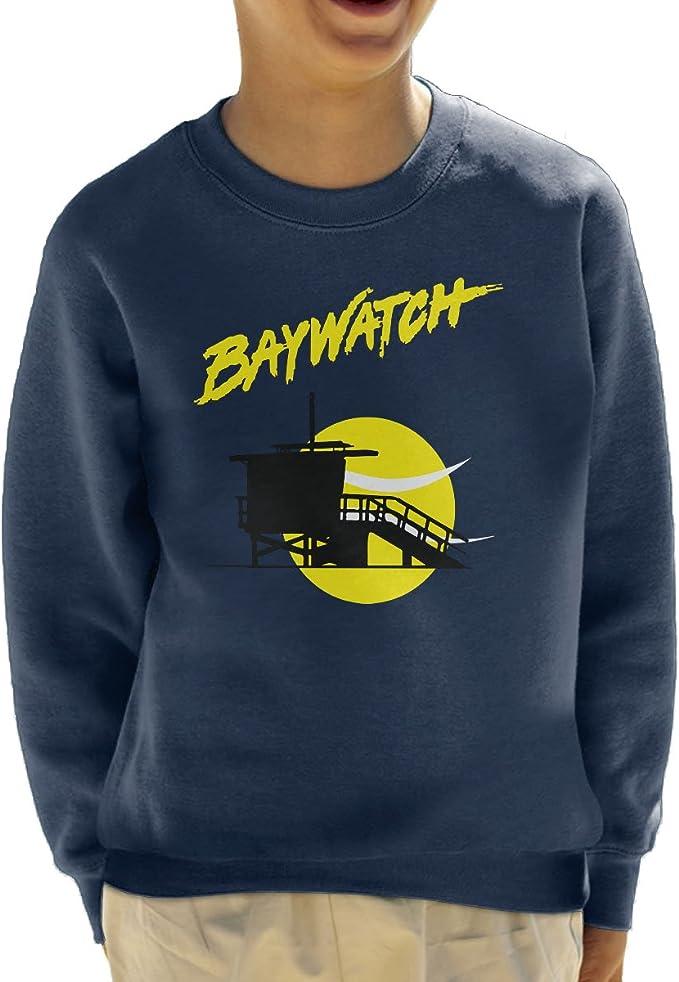 Cloud City 7 Baywatch Lifeguard Tower Sunset Kids Sweatshirt ...