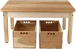 product image for Cherry & Maple Child's Play Table with Two Cherry Storage Crates