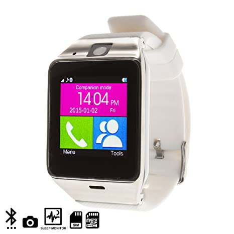 DAM Gv 18 Smart Bluetooth Watch White/Silver