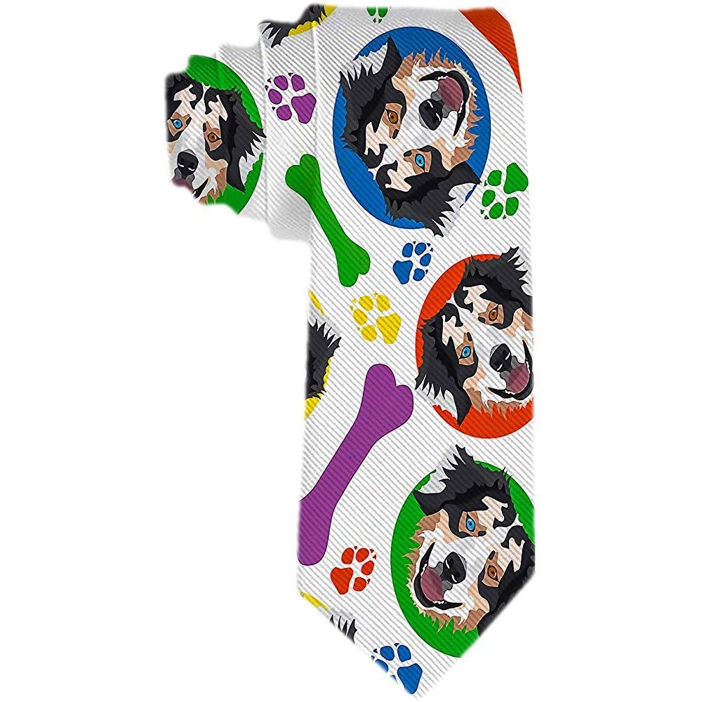 Corbatas de pastor australianas coloridas y juguetonas para hombre ...