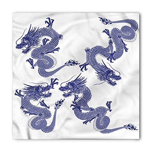 Ambesonne Unisex Bandana, Dragon Japanese Dragons Mythical, Blue