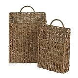 Household Essentials ML-5613 Juego de cestas de Pared de Junco Marino, 2 Piezas