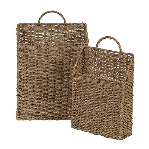 Household Essentials ML-5613 Seagrass Wall Basket Set, 2 Piece ()