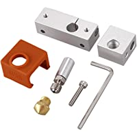 TOOGOO 3D Printer Extruder All Metal Hotend Groove Mk10 Nozzle Heating Block Brass Nozzle for Wanhao I3 Plus