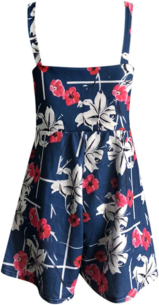 Boho V-Neck Hollow Tie Knot Beach Rompers Loose with Pockets Playsuits TTINAF Dresses Women Strap Short Jumpsuits