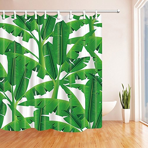 Banana leaves and palm leaves Waterproof Fabric Home Decor Shower Curtain 71X71/""