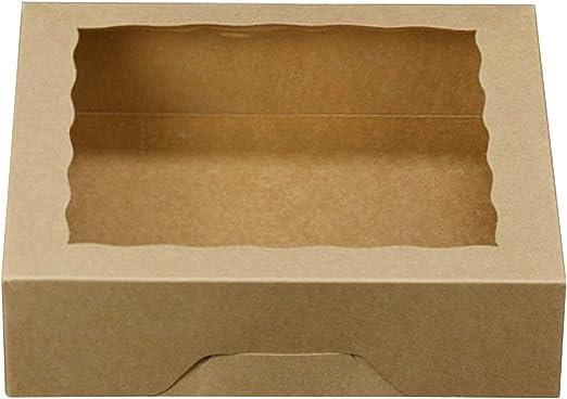 One More - Cajas de papel kraft para tartas con ventanas de PVC ...