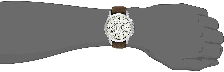 fossil men s fs4735 grant analog display analog quartz brown watch fossil men s fs4735 grant analog display analog quartz brown watch fossil amazon ca watches