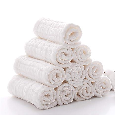 Toallitas para bebé de muselina - Leepem baby Toallitas de algodón ...