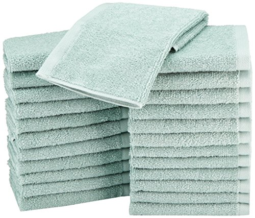 AmazonBasics Cotton Washcloth Seafoam Green