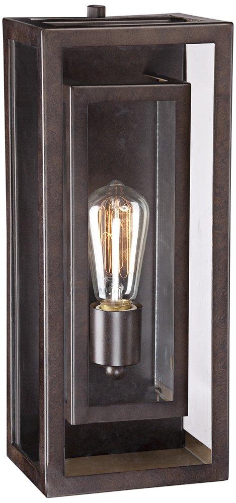 possini euro double box 15 1 2 h bronze outdoor light amazon com