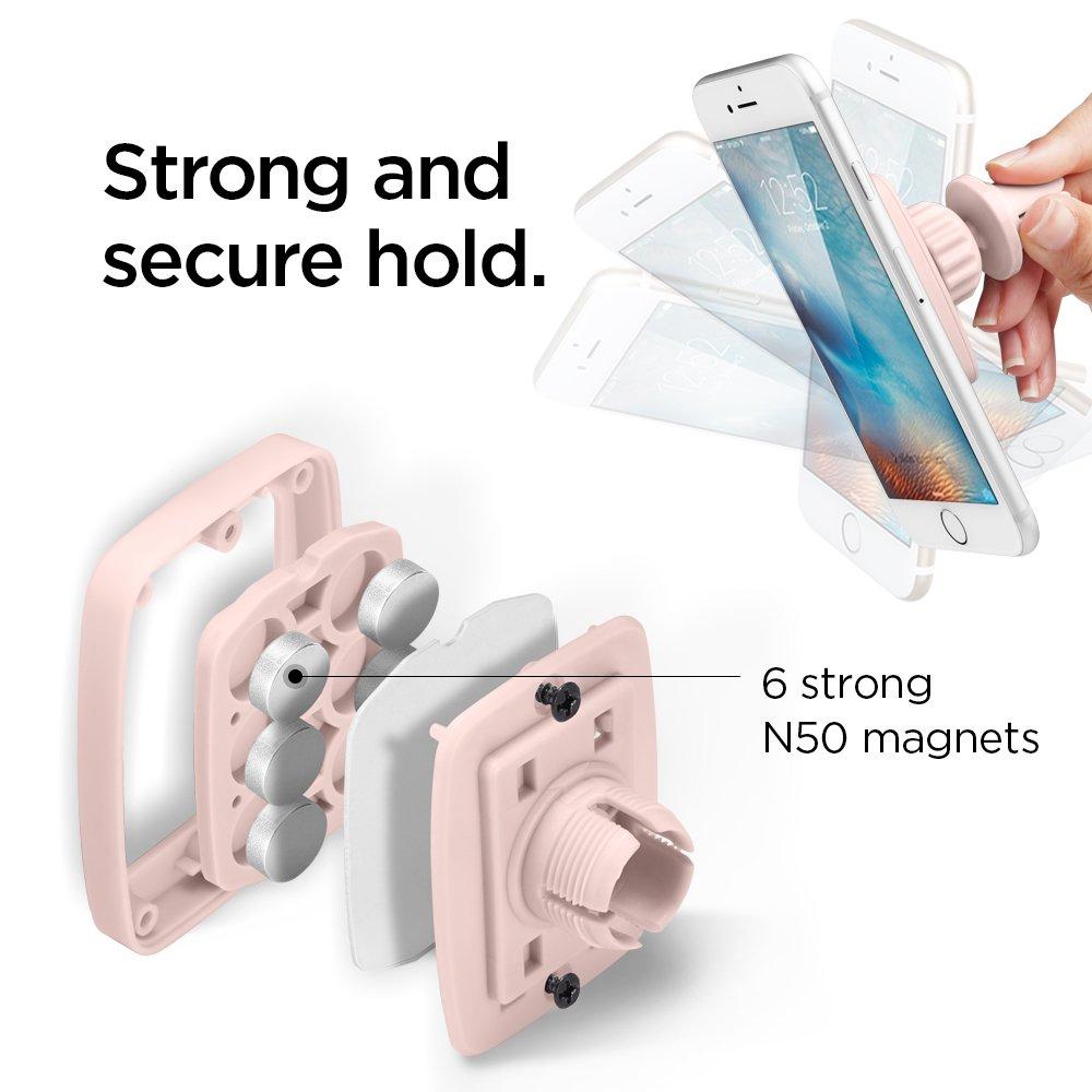 S8 Plus 8 Galaxy Note 8 6S Plus S8 Spigen Kuel A201 Car Phone Mount Premium Magnetic Air Vent Phone Holder for iPhone X 7 Pink Sand S7 Edge /& More 6S 7 Plus 8 plus
