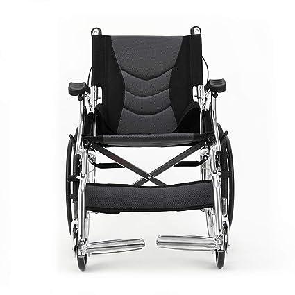Shisky Aluminio Ligero de Viaje Plegable portátil para sillas de Ruedas Transpirable colchón sillón de Ruedas