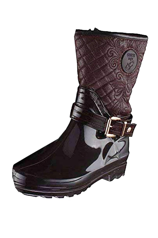 GOSCH mit Schuhe Damen PVC Stiefel mit GOSCH Steppung braun Braun 06719f 557d5a4ed9