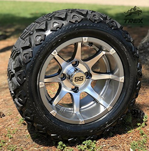 Aluminum Wheels and 20X10-12 DOT All Terrain Tires Combo - Set of 4 ()