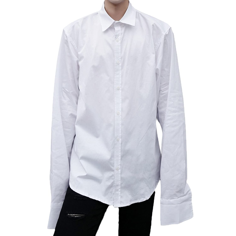Mokewen Men's Extended Long Sleeve Button Up Shirts by Mokewen