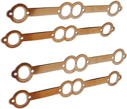 Two Sets for SBC Oval Port Copper Header Gaskets Set Fits SBC 283 302 400
