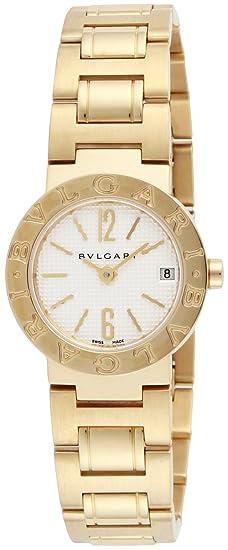 Bvlgari reloj Bulgari Bulgari esfera blanca k18yg caso bb23wggd: Amazon.es: Relojes
