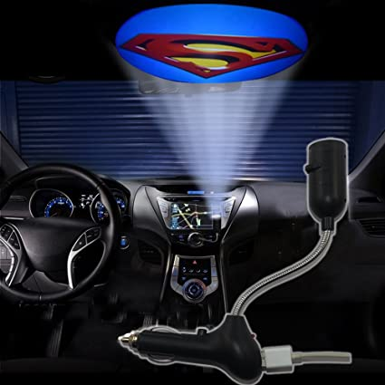 Auto Courtesy Lamp Superman Car Door LED Lighting Entry Laser Ghost Shadow Projector-No Drilling Welcome Lights with Retail Package- Fit All Cars 2pcs