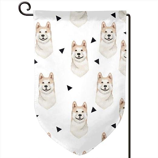 Socksforu Akita Geometric Dogs and Triangles Art Garden Flag Yard ...
