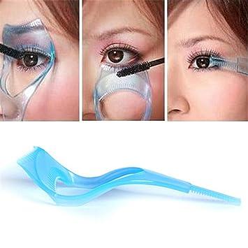 a675d4d29c8 3 in 1 Mascara Shield Guard Eyelash Comb Upper Lower Lash Mascara  Applicator Guide Card Eyelashes