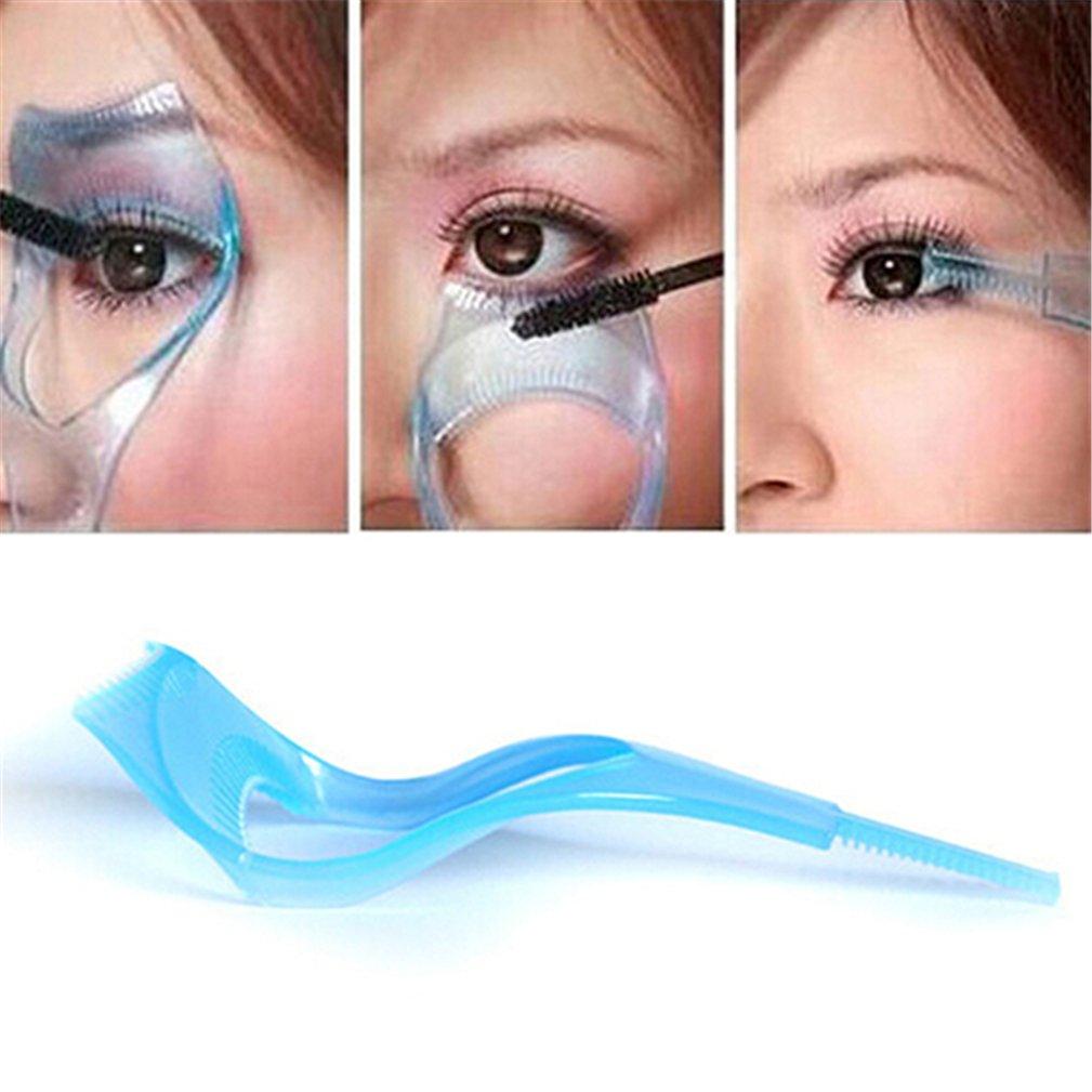 Shuohu 3 in 1 Mascara Shield Guard Eyelash Comb Applicator Guide Card Makeup Tool